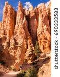 huge rock formation in bryce... | Shutterstock . vector #690333583