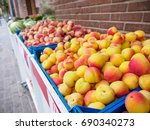 wide angle close up of ripe... | Shutterstock . vector #690340273