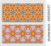 seamless horizontal borders... | Shutterstock .eps vector #690354157