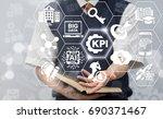 kpi   key performance indicator ... | Shutterstock . vector #690371467