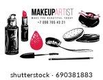 makeup artist t shirt design... | Shutterstock .eps vector #690381883