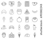 hash house icons set. outline... | Shutterstock .eps vector #690382243