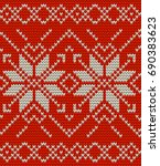 nordic knitted perfect seamless ... | Shutterstock .eps vector #690383623