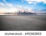 empty road floor surface with... | Shutterstock . vector #690383803