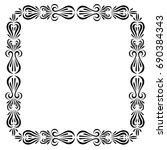 vector frame. calligraphic... | Shutterstock .eps vector #690384343