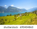 landscape in switzerland | Shutterstock . vector #690404863