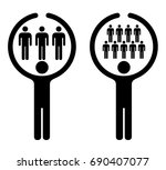people icons embracing concept  ... | Shutterstock .eps vector #690407077
