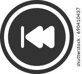 previous music icon   circle... | Shutterstock .eps vector #690410437