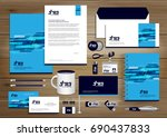 vector abstract stationery... | Shutterstock .eps vector #690437833