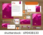 vector abstract stationery... | Shutterstock .eps vector #690438133