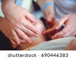 rhinoplasty  facial massage ... | Shutterstock . vector #690446383