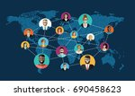 social network  people... | Shutterstock .eps vector #690458623