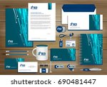 vector abstract stationery... | Shutterstock .eps vector #690481447