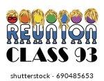 class reunion logo isolated... | Shutterstock .eps vector #690485653