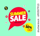 summer sale  up to 50  off ... | Shutterstock .eps vector #690507913