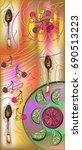 serving pattern. sample....   Shutterstock .eps vector #690513223