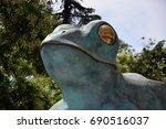 detail of frog statue of madrid ... | Shutterstock . vector #690516037