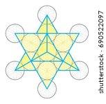 star tetrahedron icon vector | Shutterstock .eps vector #690522097
