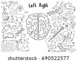 concept of the human brain   Shutterstock .eps vector #690522577