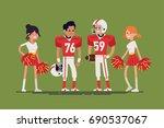 cool vector character design on ... | Shutterstock .eps vector #690537067