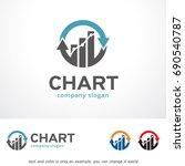 chart logo template design... | Shutterstock .eps vector #690540787