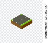 isolated up isometric. upwards... | Shutterstock .eps vector #690552727