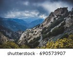 Vast Canyon On A Cloudy Day In...