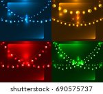can be used in present cards ... | Shutterstock . vector #690575737