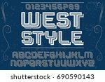 script handcrafted vector... | Shutterstock .eps vector #690590143