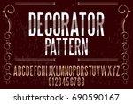 font handwritten vector... | Shutterstock .eps vector #690590167
