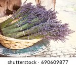 lavender bouquets   bunches of...   Shutterstock . vector #690609877