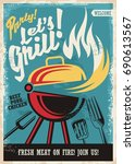 Barbecue Grill Party Poster...