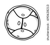 line biology genetic embryo... | Shutterstock .eps vector #690628213