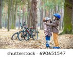 two brothers preparing for... | Shutterstock . vector #690651547