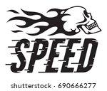 speed retro vector design with... | Shutterstock .eps vector #690666277