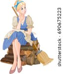 Illustration Of Cinderella...