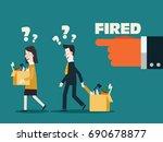 dismissed frustrated business... | Shutterstock .eps vector #690678877