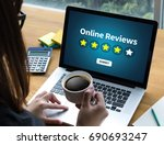 online reviews evaluation time... | Shutterstock . vector #690693247
