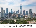 view of cityscape midtown... | Shutterstock . vector #690698797
