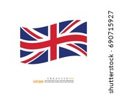 united kingdom  national flag... | Shutterstock .eps vector #690715927