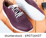 men's fashion leather sneakers. ... | Shutterstock . vector #690716437