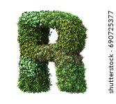 3d rendering of vertical garden ... | Shutterstock . vector #690725377