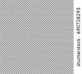 vector black polka dot pattern | Shutterstock .eps vector #690728293