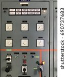 electric panel monitoring | Shutterstock . vector #690737683