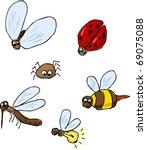 cute cartoon bugs  insect... | Shutterstock . vector #69075088
