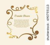 vector decorative element for... | Shutterstock .eps vector #690755113