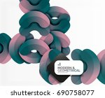 abstract color geometric round... | Shutterstock . vector #690758077