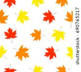 falling leaves. seamless... | Shutterstock .eps vector #690765217
