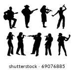 vector illustration of musicians | Shutterstock .eps vector #69076885