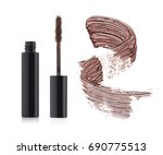 set of brown mascara with a...   Shutterstock . vector #690775513